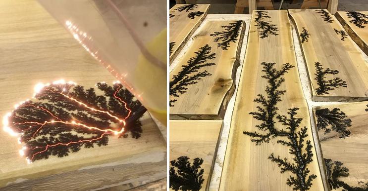 Asombrosas obras en madera hechas con electricidad