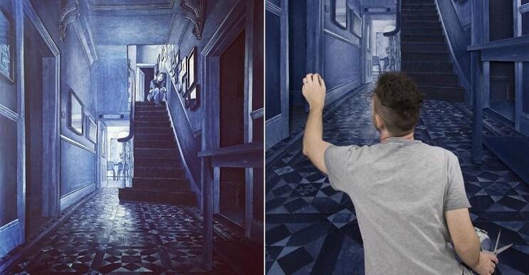 Aunque no lo parezca estos murales han sido hechos con retazos de tela