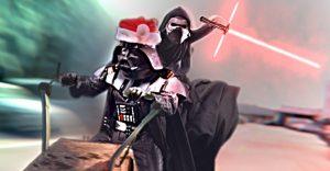 ¿Cómo la pasan Darth Santa y el pequeño Kylo Ren en navidad?