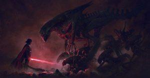 Cuando el lado oscuro de Star Wars sale a cazar aliens