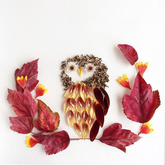 esta-artista-crea-vida-con-las-flores-que-encuentra-en-su-camino-buho