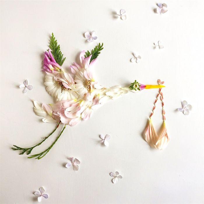 esta-artista-crea-vida-con-las-flores-que-encuentra-en-su-camino-ciguena