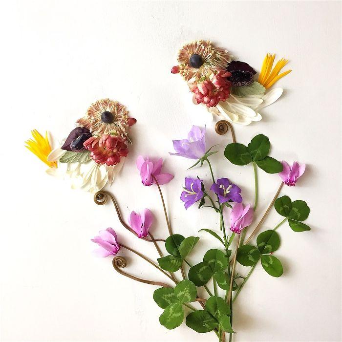 esta-artista-crea-vida-con-las-flores-que-encuentra-en-su-camino-pichon