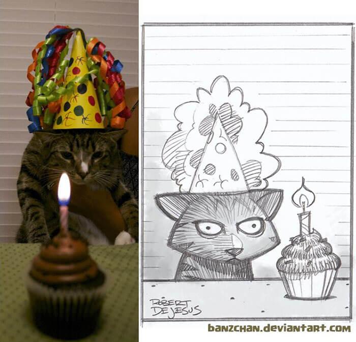 este-ilustrador-convierte-a-los-extranos-en-caricaturas-cumpleanos