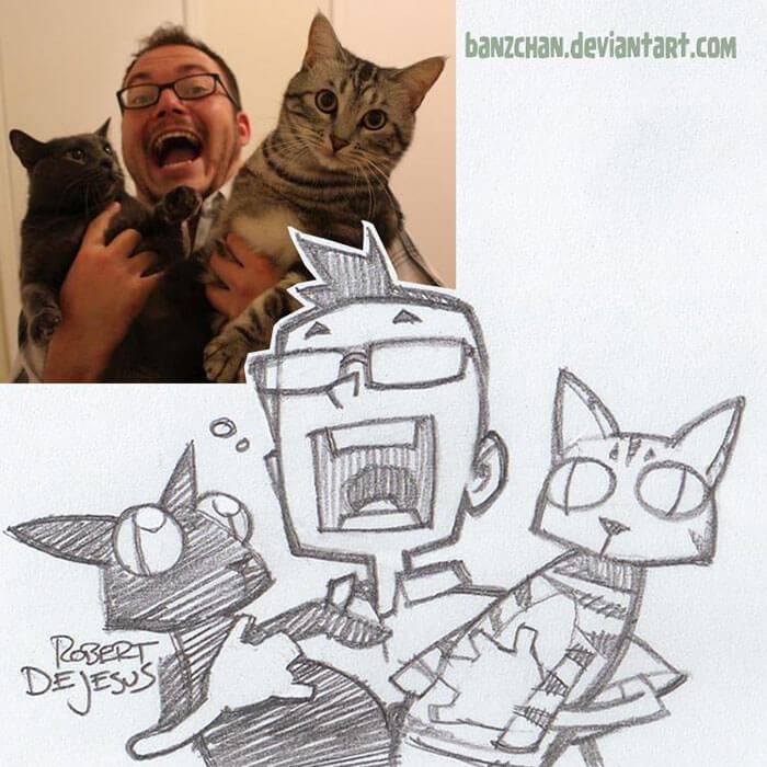 este-ilustrador-convierte-a-los-extranos-en-caricaturas-duo