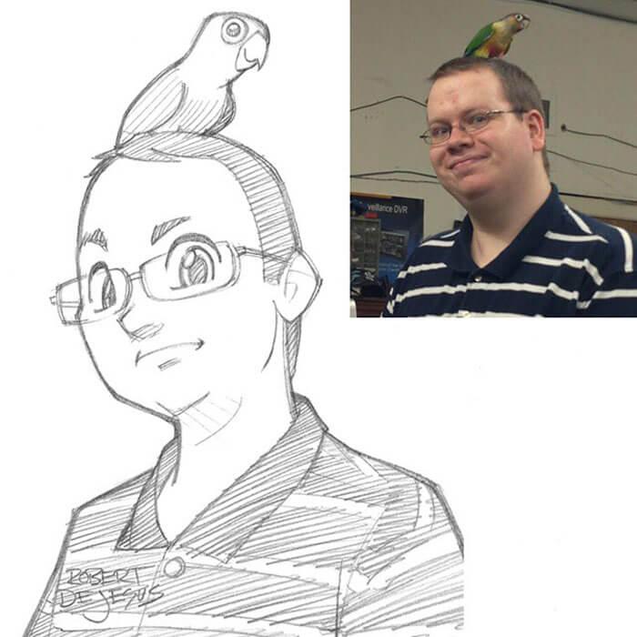 este-ilustrador-convierte-a-los-extranos-en-caricaturas-loro