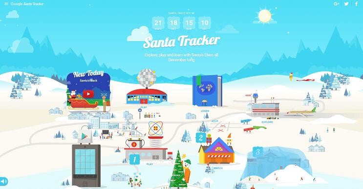 Google te muestra el recorrido de Santa en vivo para esta navidad