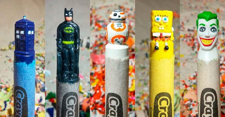 Lo que este artista hace con las crayolas es algo increíble