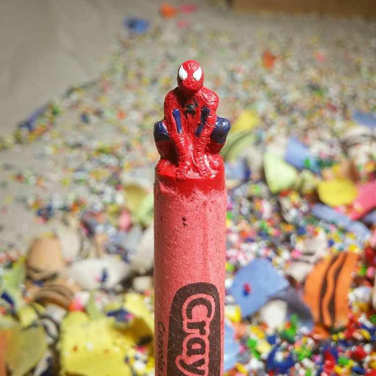 lo-que-este-artista-hace-con-las-crayolas-es-algo-increible-spiderman