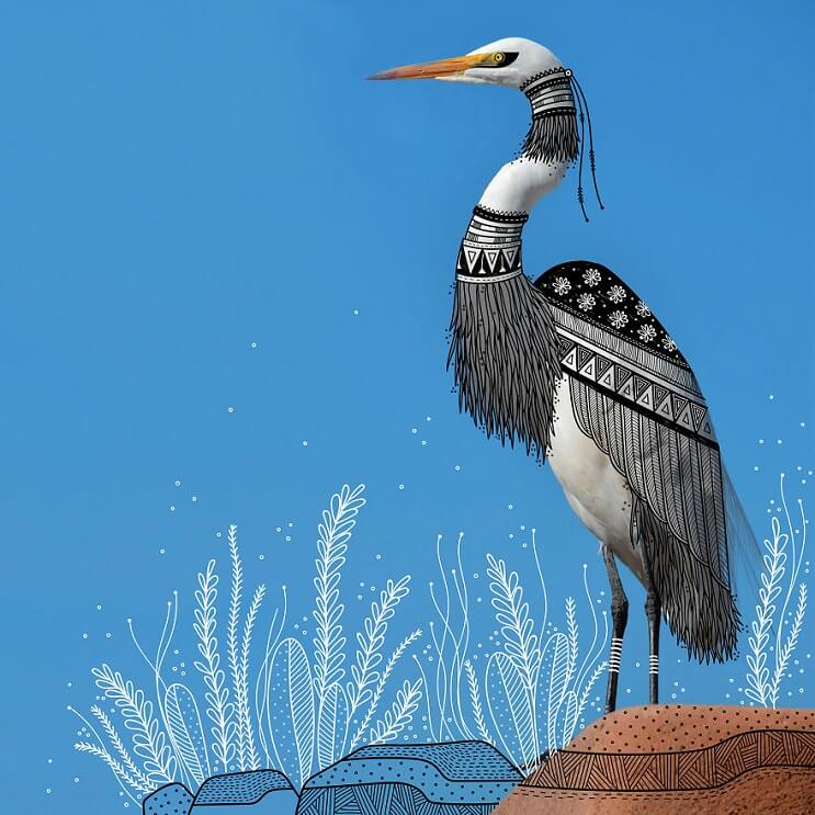 maravillosos-animales-convertidos-en-divertidos-doodles-cisne