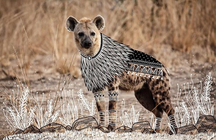 maravillosos-animales-convertidos-en-divertidos-doodles-hiena