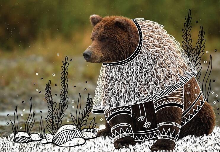 maravillosos-animales-convertidos-en-divertidos-doodles-oso