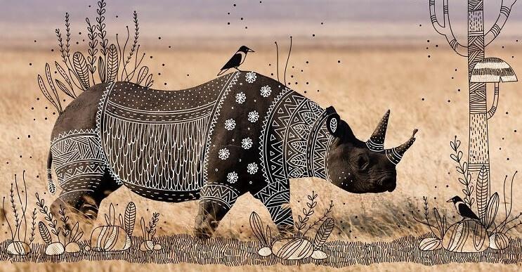 Maravillosos animales convertidos en divertidos doodles