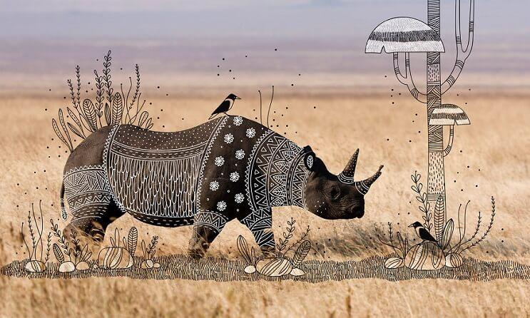 maravillosos-animales-convertidos-en-divertidos-doodles-rinoceronte