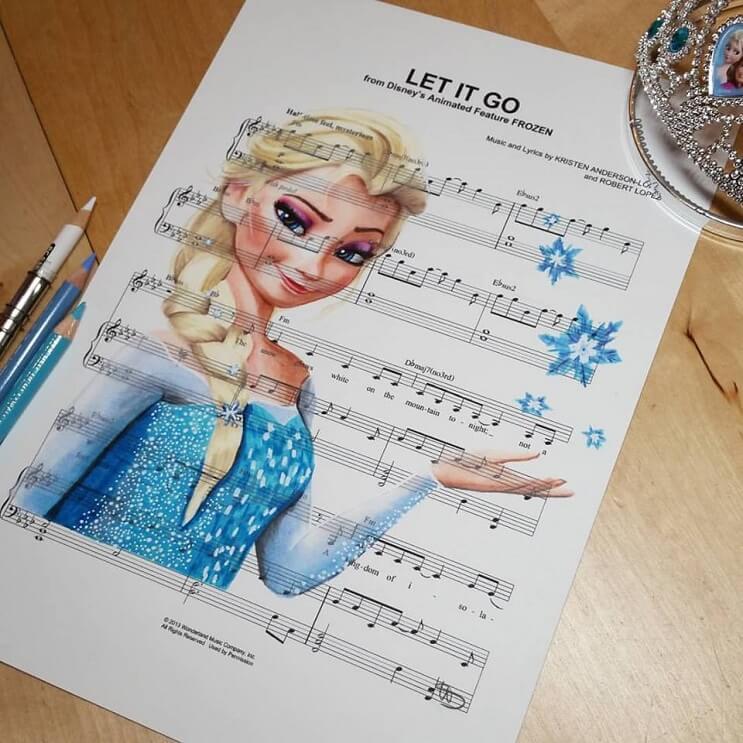 personajes-de-disney-dibujados-sobre-las-letras-de-sus-canciones-frozen