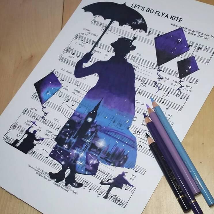 personajes-de-disney-dibujados-sobre-las-letras-de-sus-canciones-mary-poppins