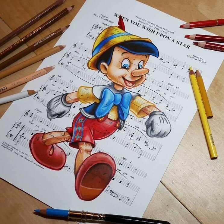 personajes-de-disney-dibujados-sobre-las-letras-de-sus-canciones-pinochio