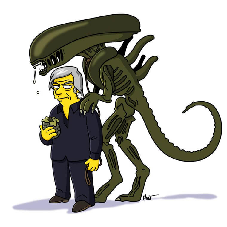 transformando-series-y-peliculas-al-estilo-de-los-simpson-alien
