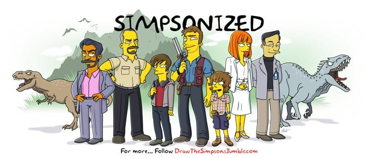 transformando-series-y-peliculas-al-estilo-de-los-simpson-jurassic-world
