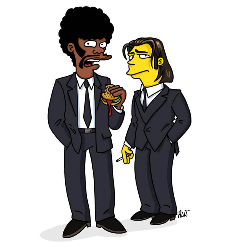 transformando-series-y-peliculas-al-estilo-de-los-simpson-pupl-fiction