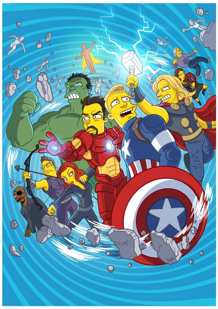 transformando-series-y-peliculas-al-estilo-de-los-simpson-the-avengers