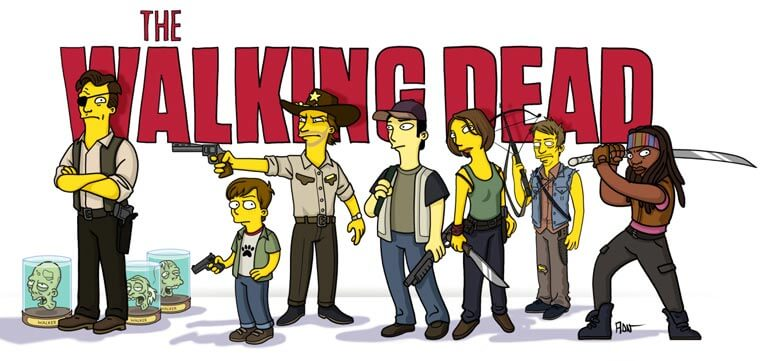 transformando-series-y-peliculas-al-estilo-de-los-simpson-the-walking-dead