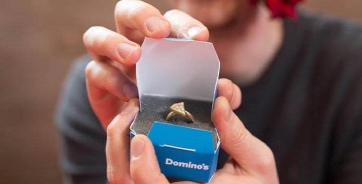 Domino´s Pizza regala un anillo de bodas por San Valentín
