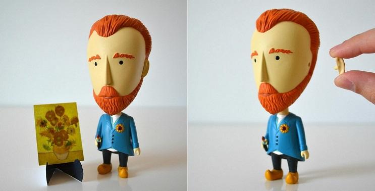 Un muñeco de van Gogh que demuestra tu amor de una exagerada forma