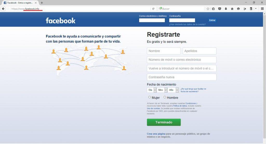 Phishing en facebook