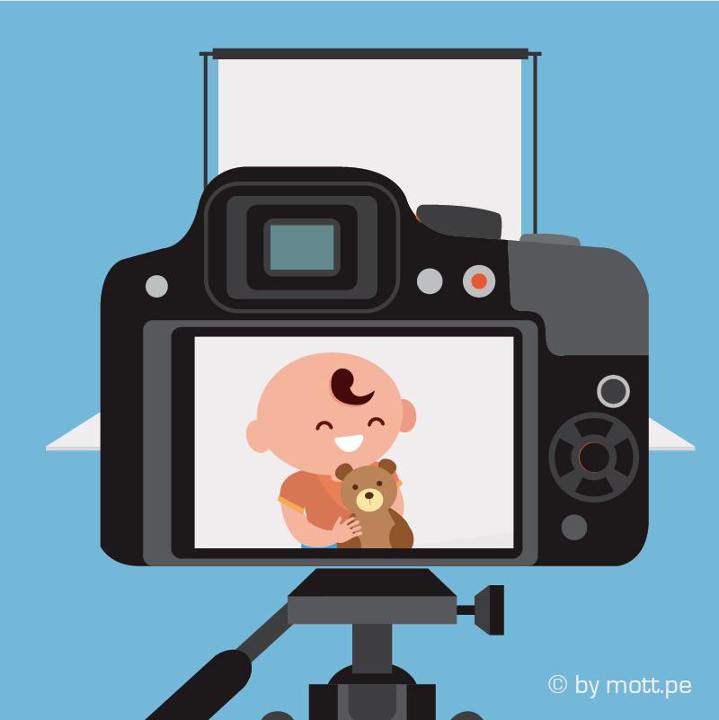 saca fotos cuando los bebes no miren