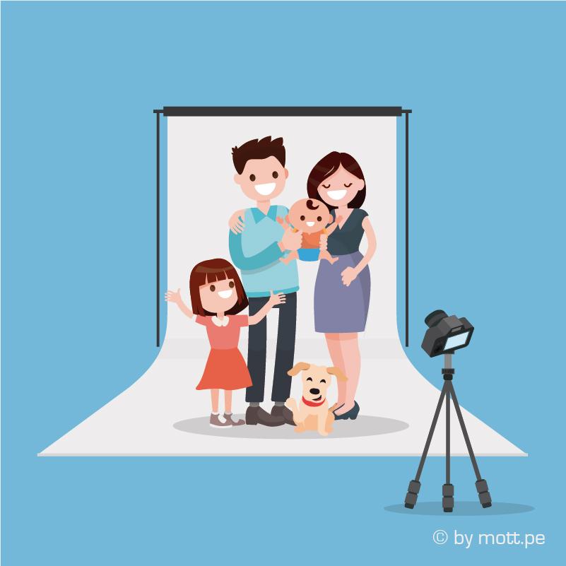 Invita a la familia a participar en la sesion de fotografia