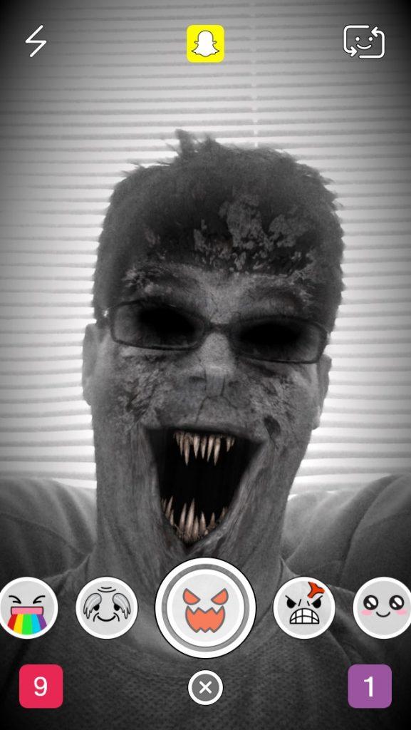filtro Zombie snapchat