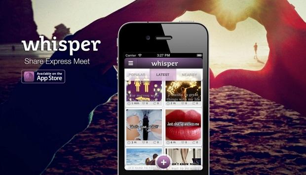 whisper aplicaciones usadas por adolescentes