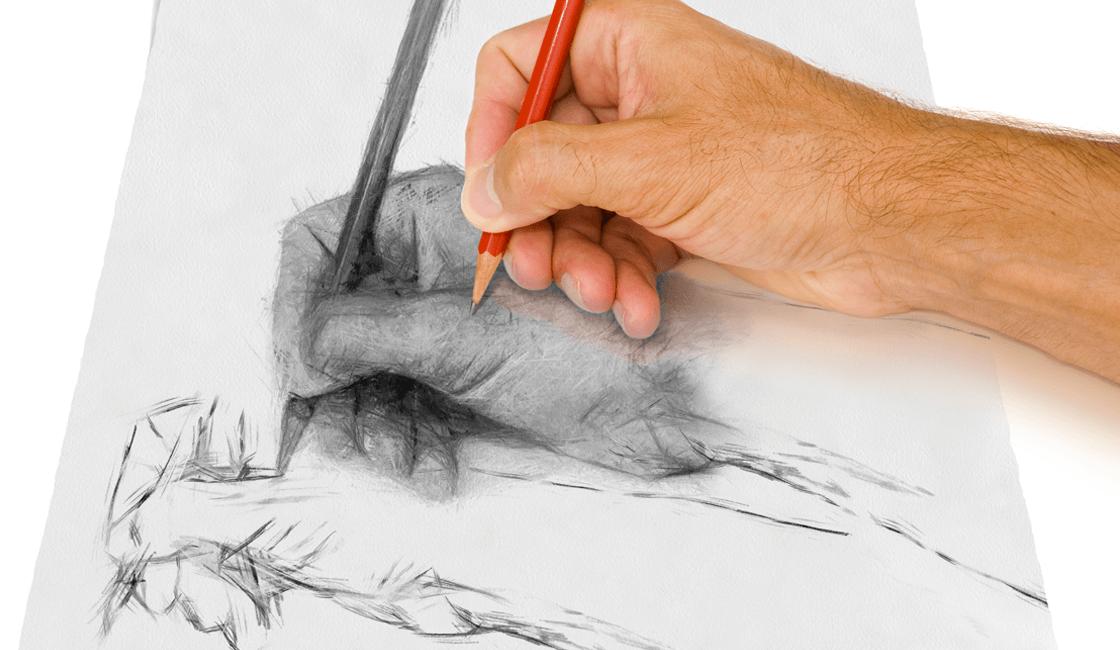 Esquema: técnica para crear orden en el dibujo artístico