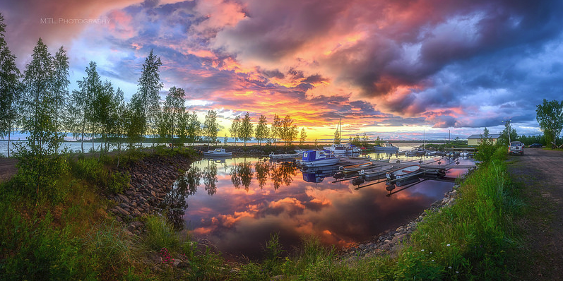 Vista panorámica de los increíbles paisajes reflejados en imágenes ...