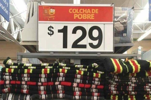 colchas de pobres en Walmart