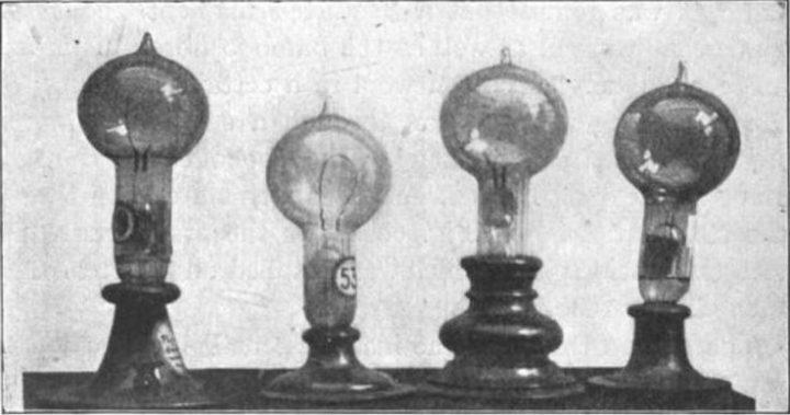 bombilla objetos tecnológicos antiguos y modernos