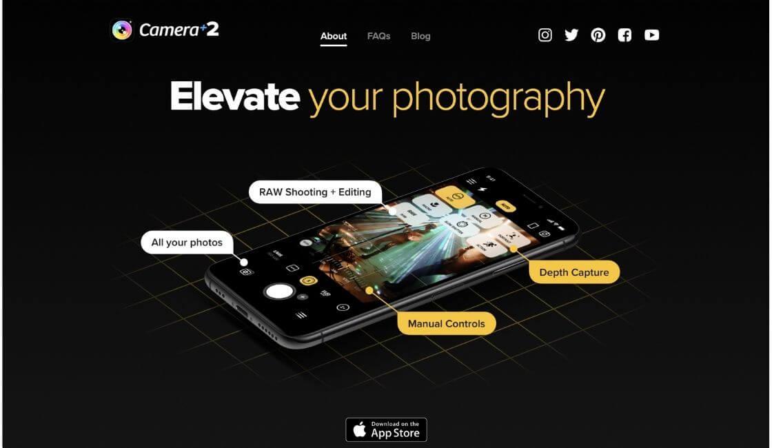 aplicacion camara plus para bonitas fotos profesionales