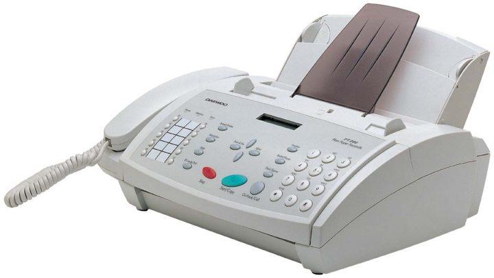 fax objetos tecnológicos antiguos y modernos
