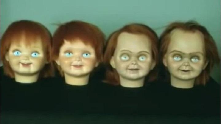 detrás de cámaras de películas de terror chucky muñecos