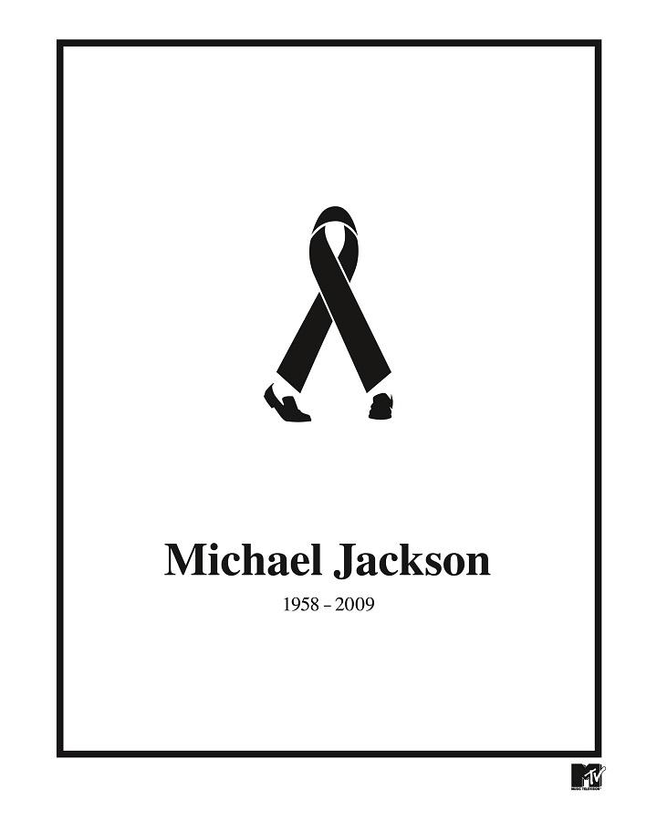 tendencia del Diseño Gráfico minimalista muerte michael jackson
