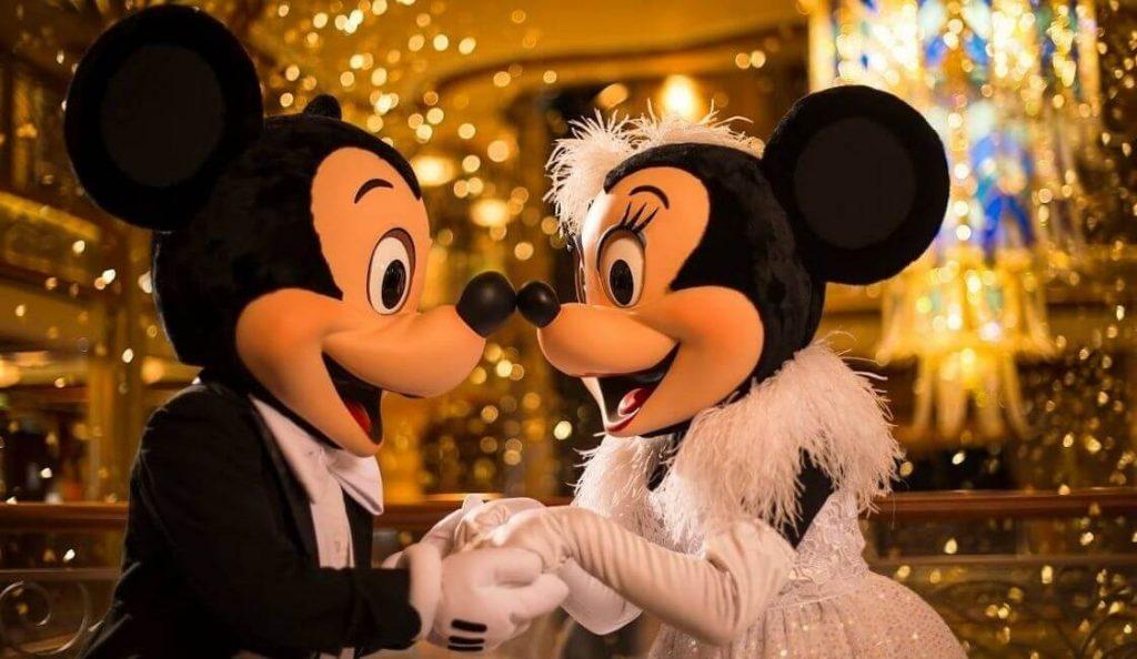 boda real de mickey y minnie