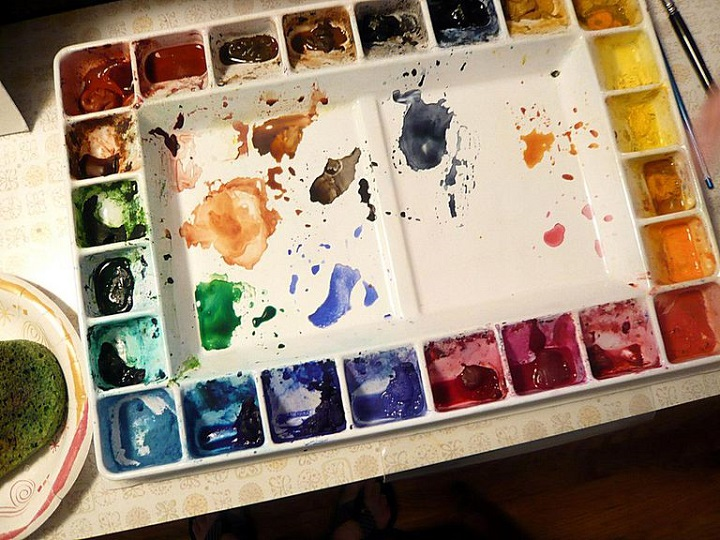 pinturas de dibujo con acuarelas