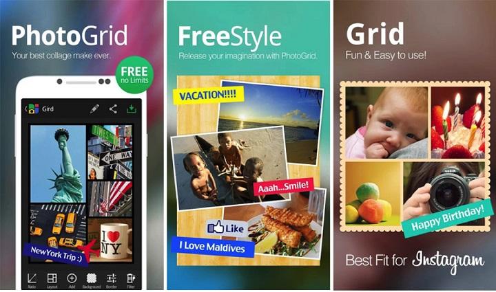 aplicación photo grid
