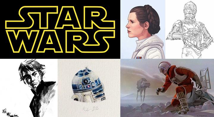 Los Mejores Dibujos E Ilustraciones De Los Personajes De Star Wars