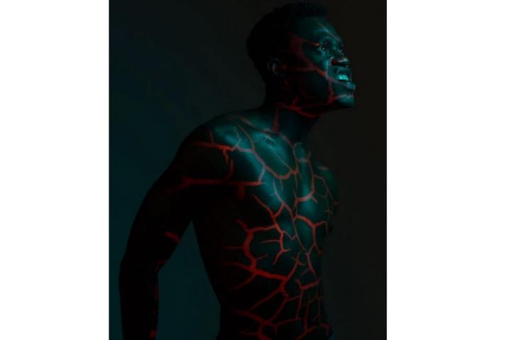 edición de retratos fotográficos con proyector
