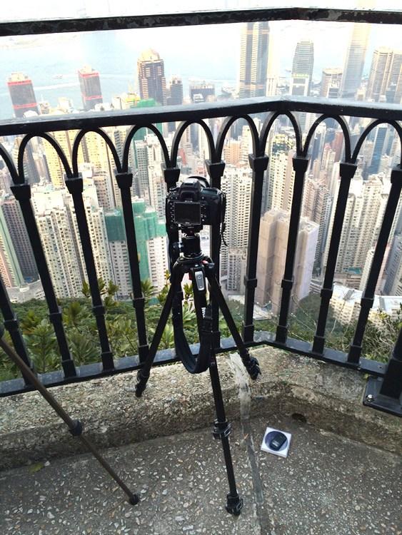 tomar una fotografia desde un punto alto