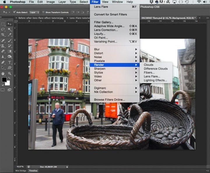 Fotografia editada en Photoshop