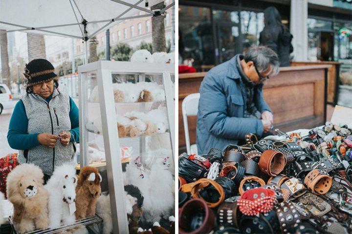 vendedores en la calle