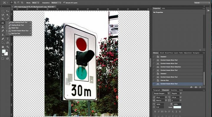 herramienta de lazo en Photoshop